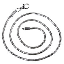 Summer Jewelry! Lobster Clasps Snake Chain Necklaces Fits Charm Beads Gunmetal 45cm, 3PCs