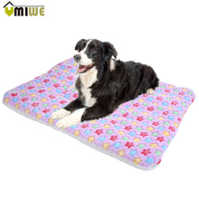 Pet Bed Mat Dogs Cats Soft Warm Sleep Mat Fleece Kennel Sofa Cushion Puppy Dog Sleeping Rest Blanket Mat Plush Carpet Cat Pad(China)
