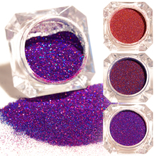 1 Box Starry Holographic Laser Powder 9 Colors Manicure Nail Glitter Powder(China)