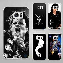 michael jackson Hard White Coque Shell Case Cover Phone Cases for Samsung Galaxy S4 S5 S6 S7 Edge Plus(China)