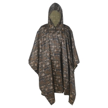 Multifunction Military Woodland Digital Color Men&Women Raincover Perfect for Hiking Camping as Poncho Awning shelter(China)