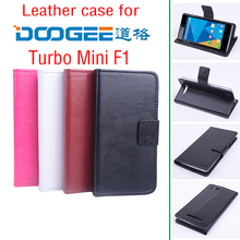 For Doogee turbo mini F1 leather cover case For Doogee F1 Cell phones Hot sell white black pink brown(China)