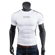 2017 Summer T Shirt Men Tee Solid Color O Neck Casual Slim Fit Tees Business Work OL Wear White Black Tops Mens T Shirts(China)