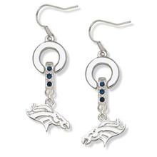 Skyrim Super bowl sports Denver Broncos crystal women earring jewelry(China)
