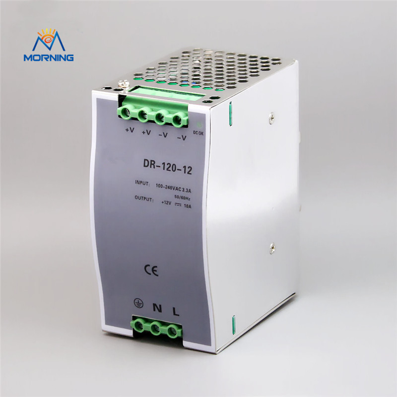 DR-120-12 120W warranty 12V stable DC input voltage converter din rail switching power supply<br>
