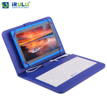 "iRULU eXpro X1 7"" 1024*600 Allwinner Tablet Quad Core Dual Camera Android 4.4 Tablet PC 8GB+Russian keyboard case gift Netbook"