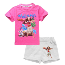 Children's Clothing Sets Summer Baby Girls Short-Sleeve T-shirt Tops + pants Kids Clothes 2 Pcs Set 2017 New