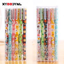6Pcs/set New Various Designs Super Hero Hello Kitty Cartoon Gel Ink Pen Promotional Gift Stationery Papelaria Children Prize