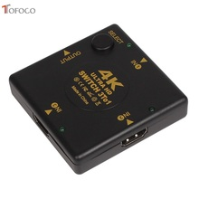 TOFOCO Mini 3 Port HDMI Switch Switcher Splitter 3 input 1 Output Box HDMI Selector for PS3 PS4 Smart HDTV 1080P