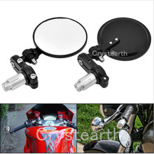 "Buy Motorcycle Round 7/8"" 22mm Handle Bar End Foldable Bike Rear View Side Mirrors Cafe Racer Suzuki Kawasaki Honda Yamaha for $10.24 in AliExpress store"
