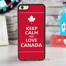 keep calm and love canada fashion case for iphone 4 4s 5 5s SE 5c for 6 & 6 plus 6S & 6S plus 7 7 plus