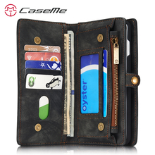 Caseme Leather Pouch For Apple iPhone 7 Case Wallet 8 6 Luxury Card Holder Magnetic Cover For Apple iPhone 7 Plus Case Walllet(China)