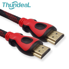 High Speed HDMI Cable 10m 15m 20m 32Ft 48Ft 64Ft 1.4V 1080P Ethernet 3D Gold Plated Plug Male-Male Nylon Braid for HDTV XBOX PS3