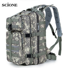 35L Men Women Military Army Backpack Trekking Camouflage Rucksack Molle Tactical Bag Pack Schoolbag Waterproof ACU Black XA161WA(China)