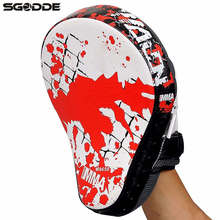 1pcs Boxing Gloves Pads for Muay Thai Kick Boxing Mitt MMA Training PU foam boxer hand target Pad Sandbag Punch Pads