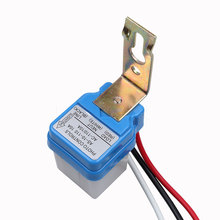1pc Sensor Switch Automatic Auto On Off Photocell Street Light Switch DC AC 12V 50-60Hz 10A Photo Control Photoswitch