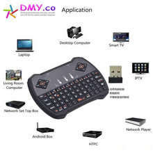 2.4G wireless keyboard lowest price game keyboard air mouse remote control touchpad computer keyboard for Google Android TV box