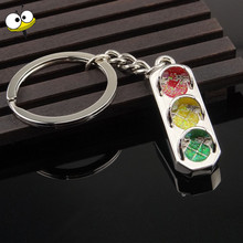Funny Gift Traffic Light Keychain Car Key Ring Key Holder Car Accessories for Ford Fiesta Ranger F150 VW BMW GMC Holden Hyundai(China)