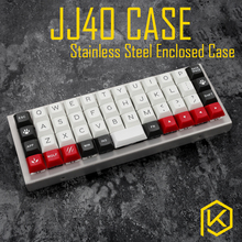 stainless steel bent case for jj40 40% JJ40 custom keyboard enclosed case upper and lower case also can support planck(China)