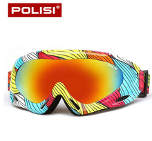 POLISI Children Boy Girl Snow Snowboard Goggles Winter Anti Fog Ski Skateboard Glasses Kids UV400 Skiing Mountaineering Eyewear(China)