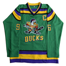 Ice Hockey Jersey Mighty Ducks Movie Jerseys #96 COMWAY Stitched Jerseys Winter Sport Wear Ice Wholesale Dropship Factory Outlet
