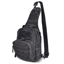 hot Field Chest Sling Single Shoulder Bag Man Big Large Ride Travel military black Chest Bag(China)