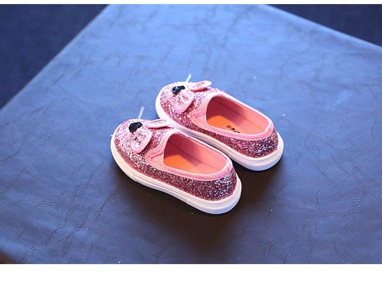 Cute Kids Girls Shoes 17 New Autumn Cartoon Bunny Cat Princess Flat Fashion Toddler Baby Girls Sneakers Children Casual Shoes 14