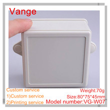 1pcs/lot mold made plastic box IP54 ABS plastic shell enclosure for wall-mounted project 80*75*45mm(China)