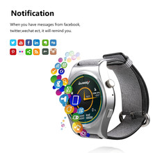 Fashion Unisex Bluetooth Smart Watch Wristwatch Support Wifi Google Voice GPS Map Alarm Clock Phone call Monito for IOS Android