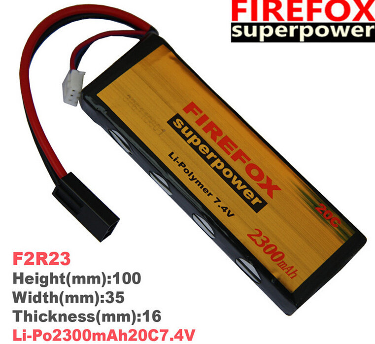 1pcs 100% Orginal FireFox 7.4V 2300mAh 20C Li Po AEG Airsoft Battery F2R23 Drop shipping<br>