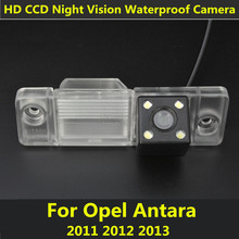 Car CCD 4 LED Night Vision Reverse Backup Parking Waterproof Rearview Reversing Rear View Camera For Opel Antara 2011 2012 2013