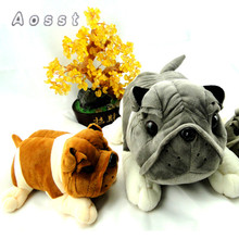 AOSST Creative cartoon bulldog plush toys Cute puppy bamboo charcoal car furnishing articles plush toys girl gifts(China)