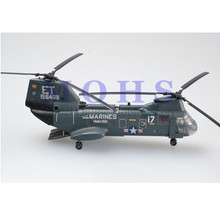 EASY MODEL 37002 Assembled Model Finished Scale Model Scale Helicopter Sea Knight CH-46F ET17 N156468 HMM-262(China)