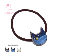 Shapu Japanese style gem star cute cat high elastic hair band women fashion hair accessories lady scrunchies headwear ornaments(China)