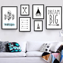 New Dream Big Little One Canvas Painting Quotes Wall Art Baby Nursery Poster Modern Pop Art Toddler Pictures Decoration Unframed