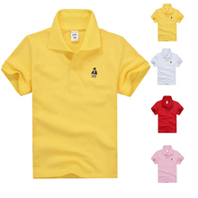 High Quality Kids Short Sleeve T-Shirts Boys Girls T Shirt Brand Cotton Children's Polo Shirts(China)