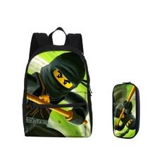 2018 VEEVANV Fashion Girls Bookbags Pencil Case LEGO Ninjago Printing Children School Backpacks Small Boys Laptop Shoulder Bags
