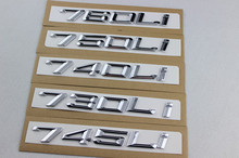 car styling new ABS black/silver 745 730 740 750 760 LI car refit displacement emblems.car tail decor sticker for BMW 7 series(China)