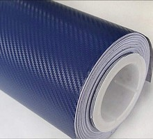 200mm x1520mm Blue 3D Bubble Air Free Carbon Fiber Vinyl Wrap Textured Film Sheet High Quality Auto Part Body Kit(China)