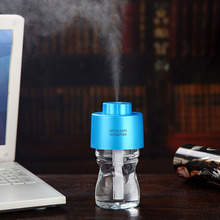 Bottle Cap Shaped Mist Spray Air Humidifier Cleaner Night Light With Noctilucence Function