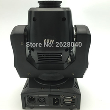 (1 pieces/lot) led mini moving head 60w dj light dmx gobo stage lighting equipment