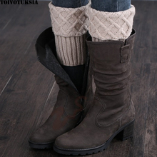 TOIVOTUKSIA Gaiters Crochet Knit Boot Cuffs Boot Socks Crochet Free Patterns Thermal Boot Covers Short Leg Warmers(China)