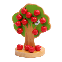 1set Magnetic Apple Tree Baby Wooden Educational Toys Early Intellectual Magnetic Building Blocks Wholesale Infant Teaching Aids