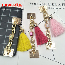 Dower Me Brand DIY Alloy Mobile Phone Straps with Rhinestones Chain Tassel Mobile Phone lanyard/Adornment/Trim/Finishing
