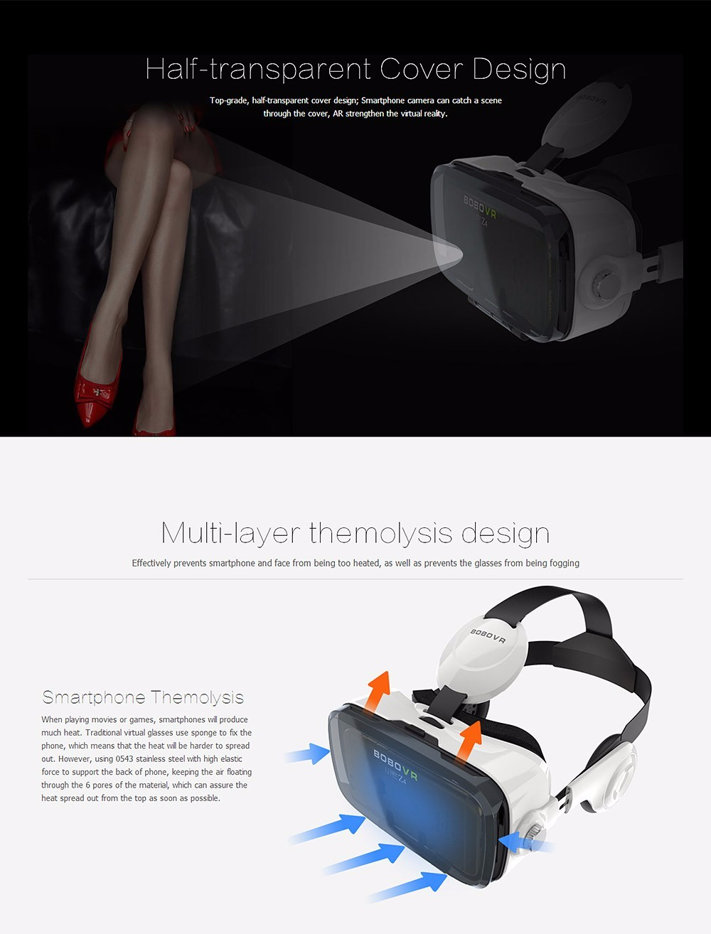 Virtual Reality Google Cardboard VR BOX Original bobovr Z4/ Z4 Mini 3D glasses+Bluetooth Controller for 4-6' Smart Mobile Phone 15