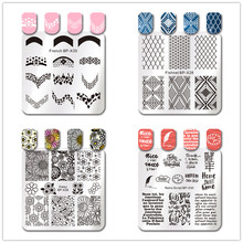 BORN PRETTY Square Nail Art Stamp Template Daisy Floral Image Sketches Painting French Tips Stencil Plate Tools(China)