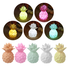 LED Vinyl Pineapple Party Props LED Night Lights Table Desk Bedroom Decoration Baby Feeding Bedside Lamp Kids Light-up Toys Gift(China)