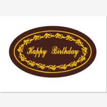 5 sheets happy birthday  baking mold sheet / cake  decoration/Chocolate transfer paper