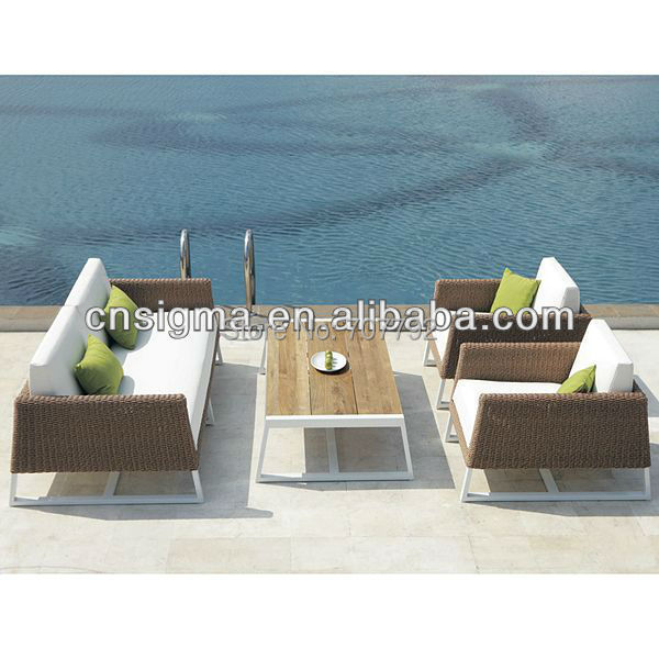 2017 Top Sale Weather Rattan Patio Furniture Lounge Sofa Set
