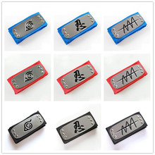 Naruto Cosplay Headband Anime Props Accessories Leaf Village Logo Konoha Kakashi Akatsuki Members Headband Forehead Protectors